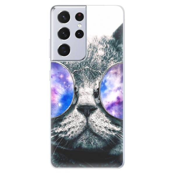 Odolné silikonové pouzdro iSaprio - Galaxy Cat - Samsung Galaxy S21 Ultra