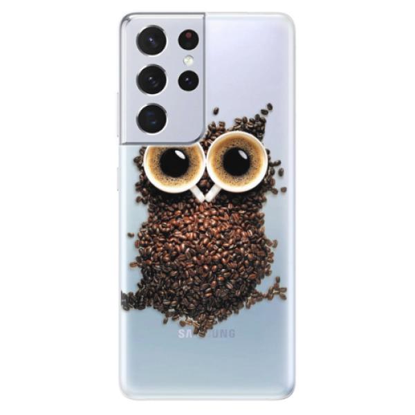 Odolné silikonové pouzdro iSaprio - Owl And Coffee - Samsung Galaxy S21 Ultra