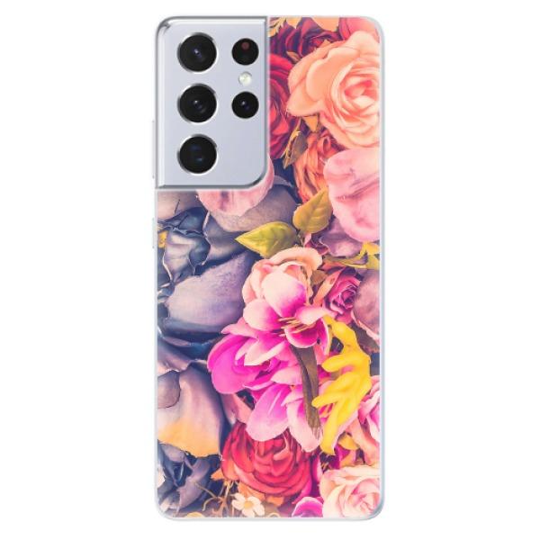 Odolné silikonové pouzdro iSaprio - Beauty Flowers - Samsung Galaxy S21 Ultra