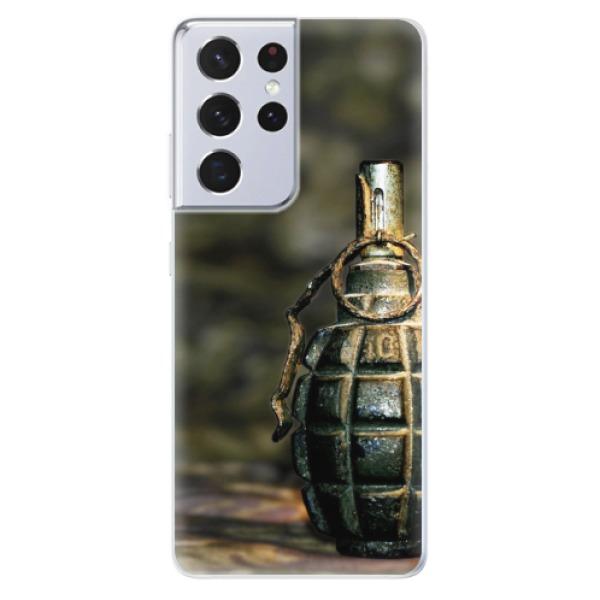 Odolné silikonové pouzdro iSaprio - Grenade - Samsung Galaxy S21 Ultra