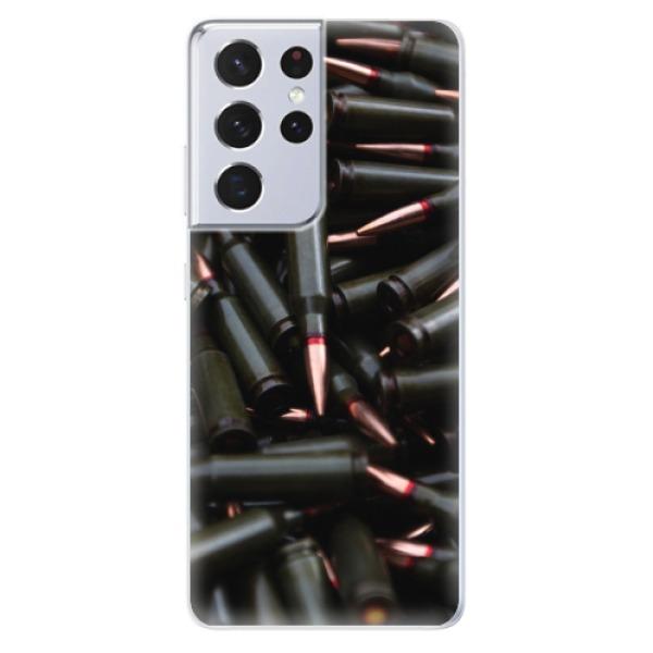 Odolné silikonové pouzdro iSaprio - Black Bullet - Samsung Galaxy S21 Ultra