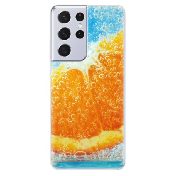 Odolné silikonové pouzdro iSaprio - Orange Water - Samsung Galaxy S21 Ultra