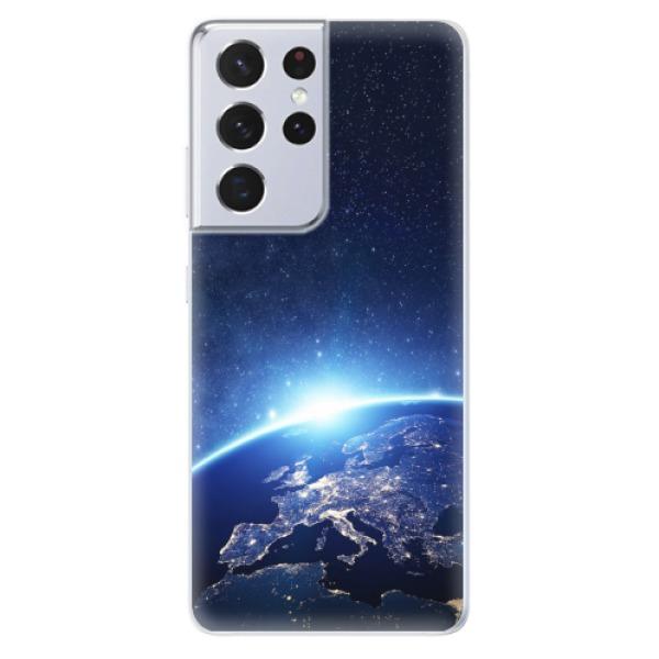 Odolné silikonové pouzdro iSaprio - Earth at Night - Samsung Galaxy S21 Ultra