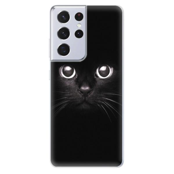 Odolné silikonové pouzdro iSaprio - Black Cat - Samsung Galaxy S21 Ultra