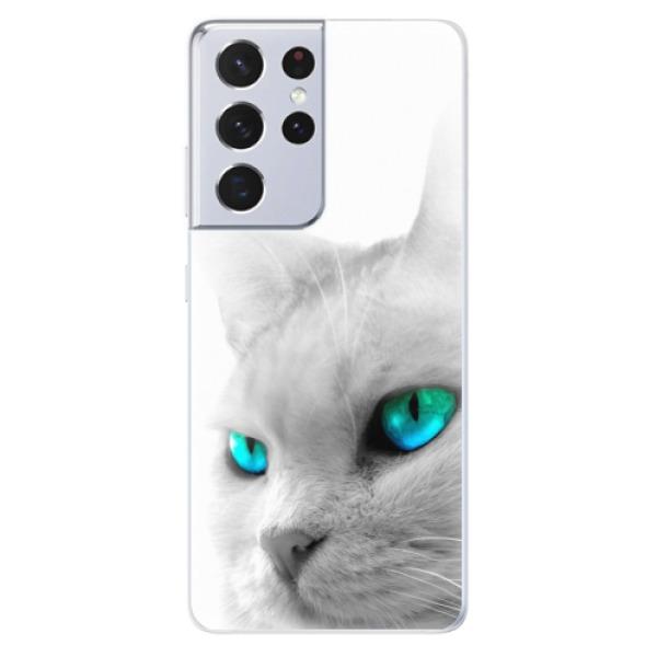 Odolné silikonové pouzdro iSaprio - Cats Eyes - Samsung Galaxy S21 Ultra