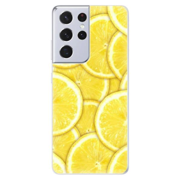 Odolné silikonové pouzdro iSaprio - Yellow - Samsung Galaxy S21 Ultra