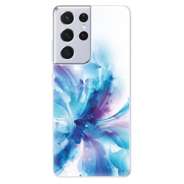 Odolné silikonové pouzdro iSaprio - Abstract Flower - Samsung Galaxy S21 Ultra