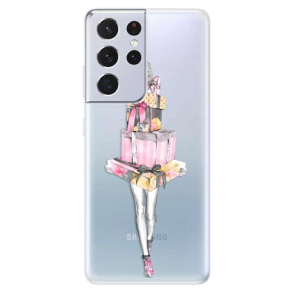 Odolné silikonové pouzdro iSaprio - Queen of Shopping - Samsung Galaxy S21 Ultra