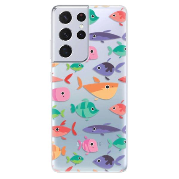 Odolné silikonové pouzdro iSaprio - Fish pattern 01 - Samsung Galaxy S21 Ultra
