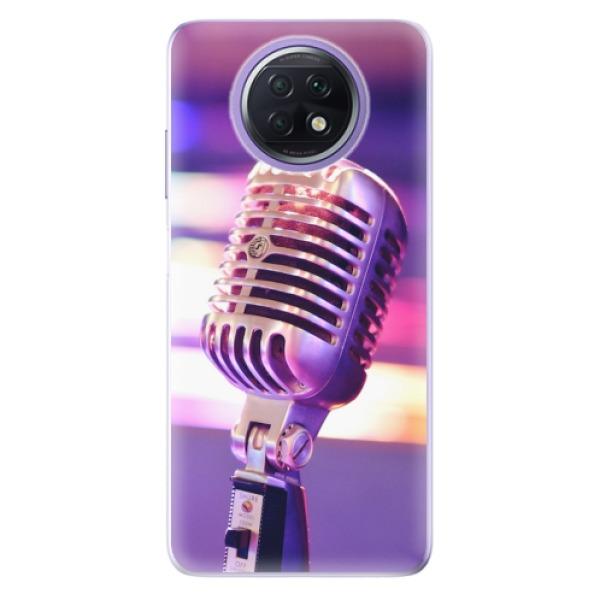 Odolné silikonové pouzdro iSaprio - Vintage Microphone - Xiaomi Redmi Note 9T