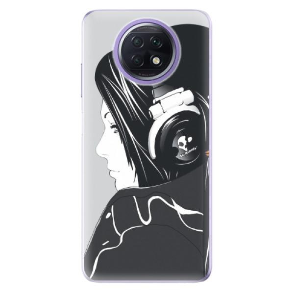 Odolné silikonové pouzdro iSaprio - Headphones - Xiaomi Redmi Note 9T