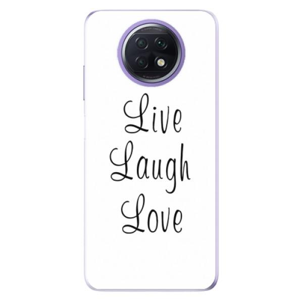Odolné silikonové pouzdro iSaprio - Live Laugh Love - Xiaomi Redmi Note 9T