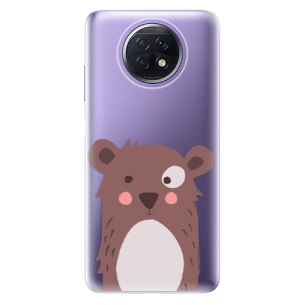 Odolné silikonové pouzdro iSaprio - Brown Bear - Xiaomi Redmi Note 9T