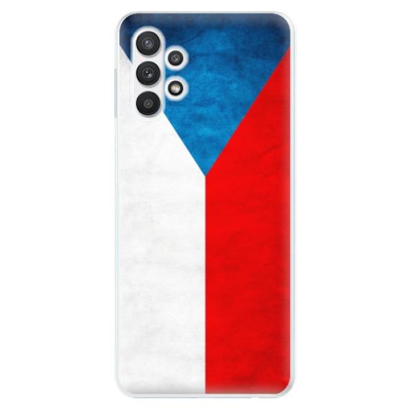Odolné silikonové pouzdro iSaprio - Czech Flag - Samsung Galaxy A32