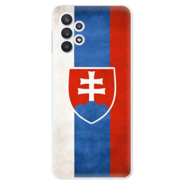Odolné silikonové pouzdro iSaprio - Slovakia Flag - Samsung Galaxy A32