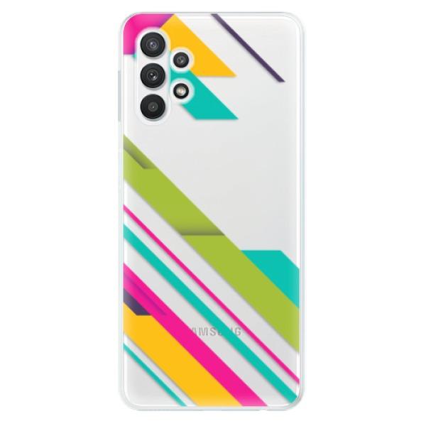 Odolné silikonové pouzdro iSaprio - Color Stripes 03 - Samsung Galaxy A32
