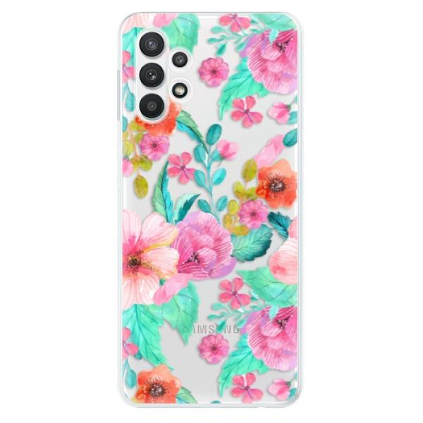 Odolné silikonové pouzdro iSaprio - Flower Pattern 01 - Samsung Galaxy A32