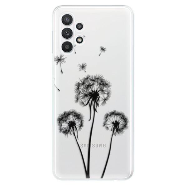 Odolné silikonové pouzdro iSaprio - Three Dandelions - black - Samsung Galaxy A32