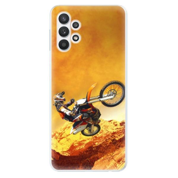 Odolné silikonové pouzdro iSaprio - Motocross - Samsung Galaxy A32