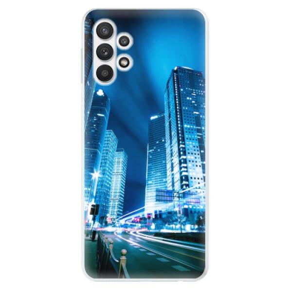 Odolné silikonové pouzdro iSaprio - Night City Blue - Samsung Galaxy A32