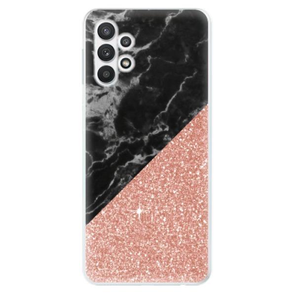 Odolné silikonové pouzdro iSaprio - Rose and Black Marble - Samsung Galaxy A32