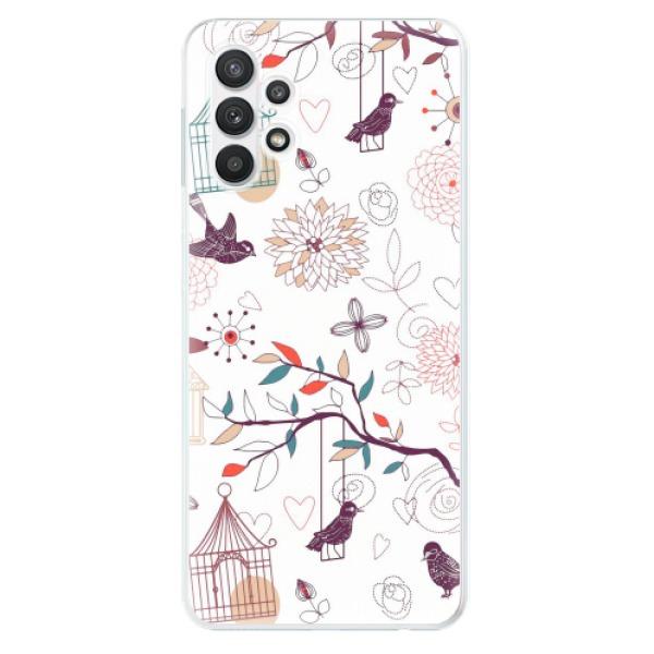 Odolné silikonové pouzdro iSaprio - Birds - Samsung Galaxy A32