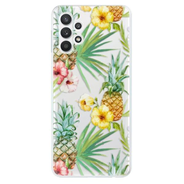 Odolné silikonové pouzdro iSaprio - Pineapple Pattern 02 - Samsung Galaxy A32