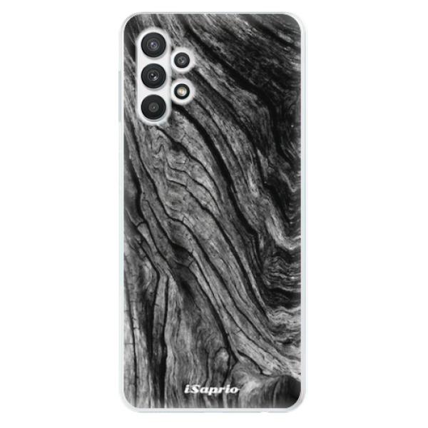 Odolné silikonové pouzdro iSaprio - Burned Wood - Samsung Galaxy A32