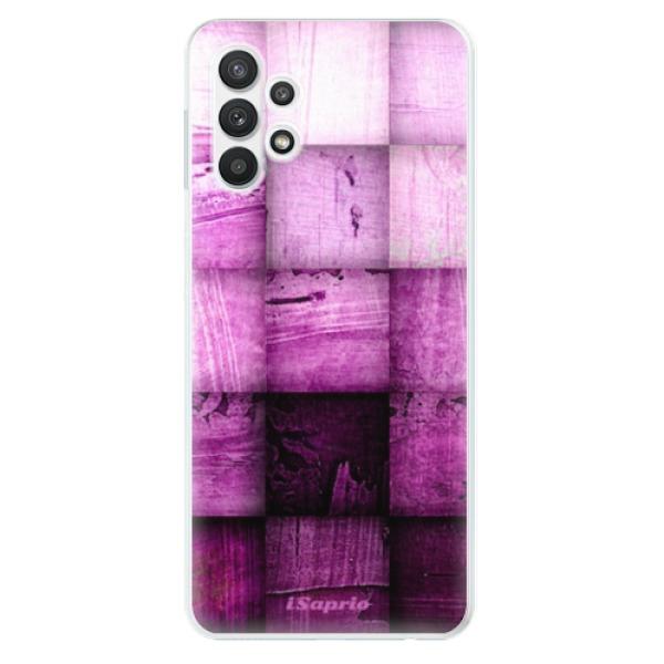 Odolné silikonové pouzdro iSaprio - Purple Squares - Samsung Galaxy A32