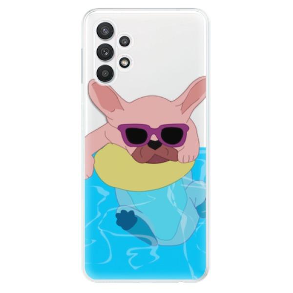 Odolné silikonové pouzdro iSaprio - Swimming Dog - Samsung Galaxy A32