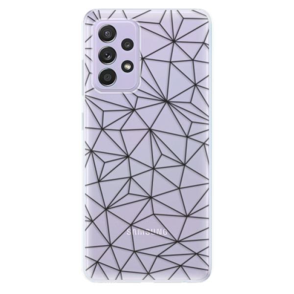 Odolné silikonové pouzdro iSaprio - Abstract Triangles 03 - black - Samsung Galaxy A52/A52 5G