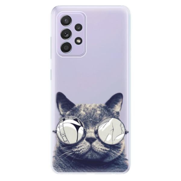 Odolné silikonové pouzdro iSaprio - Crazy Cat 01 - Samsung Galaxy A52/A52 5G