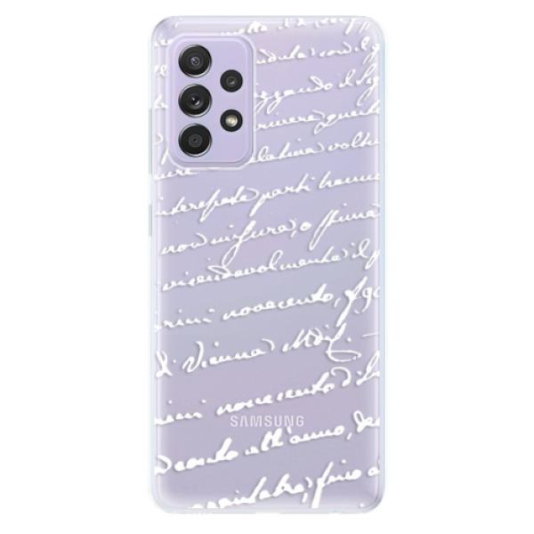 Odolné silikonové pouzdro iSaprio - Handwriting 01 - white - Samsung Galaxy A52/A52 5G