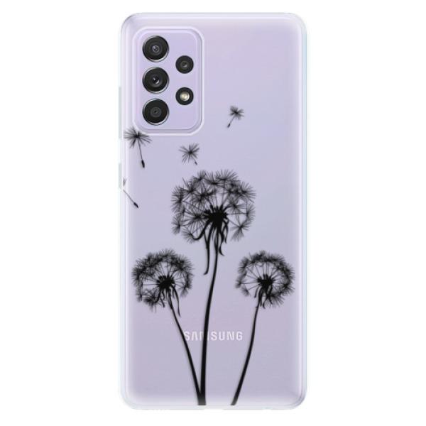 Odolné silikonové pouzdro iSaprio - Three Dandelions - black - Samsung Galaxy A52/A52 5G