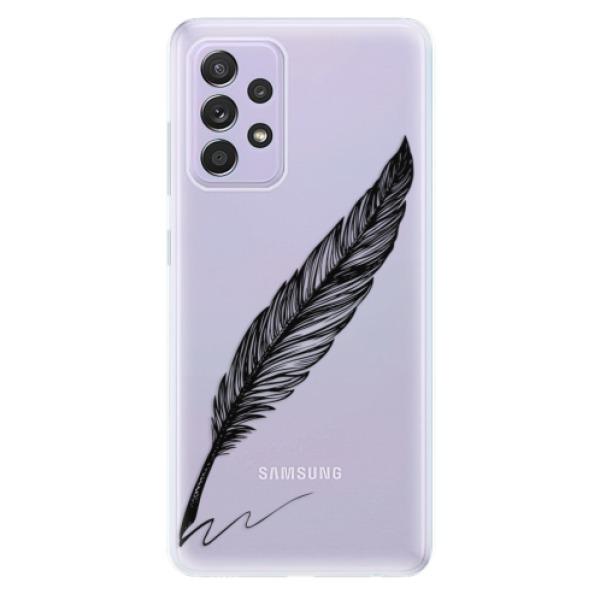 Odolné silikonové pouzdro iSaprio - Writing By Feather - black - Samsung Galaxy A52/A52 5G