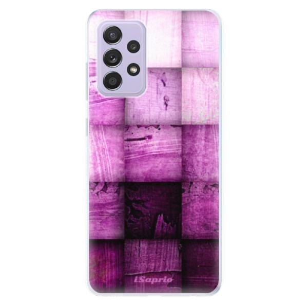 Odolné silikonové pouzdro iSaprio - Purple Squares - Samsung Galaxy A52/A52 5G