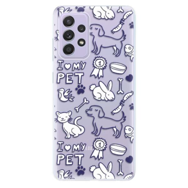 Odolné silikonové pouzdro iSaprio - Love my pets - Samsung Galaxy A52/A52 5G