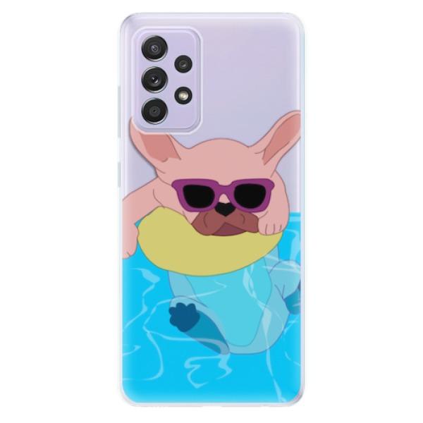 Odolné silikonové pouzdro iSaprio - Swimming Dog - Samsung Galaxy A52/A52 5G