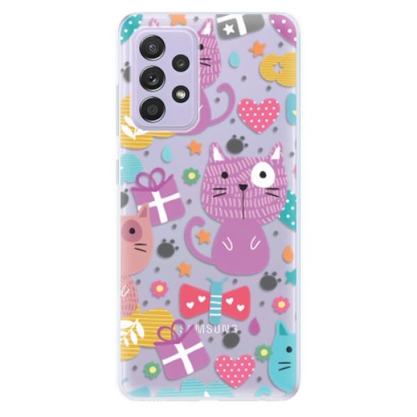 Odolné silikonové pouzdro iSaprio - Cat pattern 01 - Samsung Galaxy A52/A52 5G