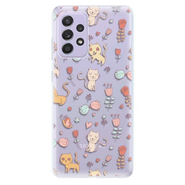 Odolné silikonové pouzdro iSaprio - Cat pattern 02 - Samsung Galaxy A52/A52 5G