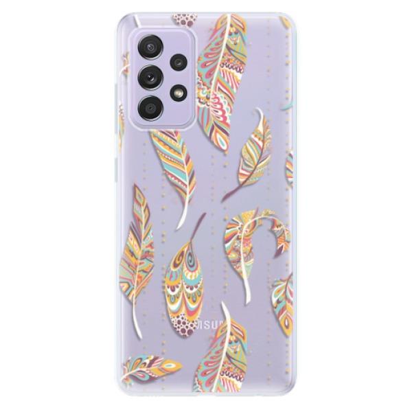 Odolné silikonové pouzdro iSaprio - Feather pattern 02 - Samsung Galaxy A52/A52 5G