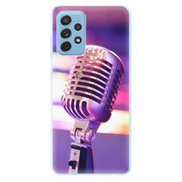 Odolné silikonové pouzdro iSaprio - Vintage Microphone - Samsung Galaxy A72