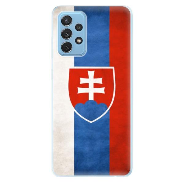 Odolné silikonové pouzdro iSaprio - Slovakia Flag - Samsung Galaxy A72