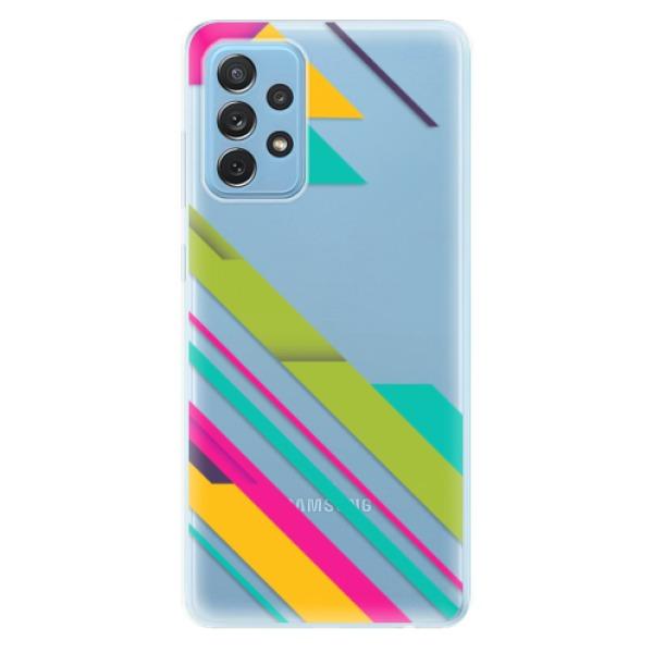 Odolné silikonové pouzdro iSaprio - Color Stripes 03 - Samsung Galaxy A72