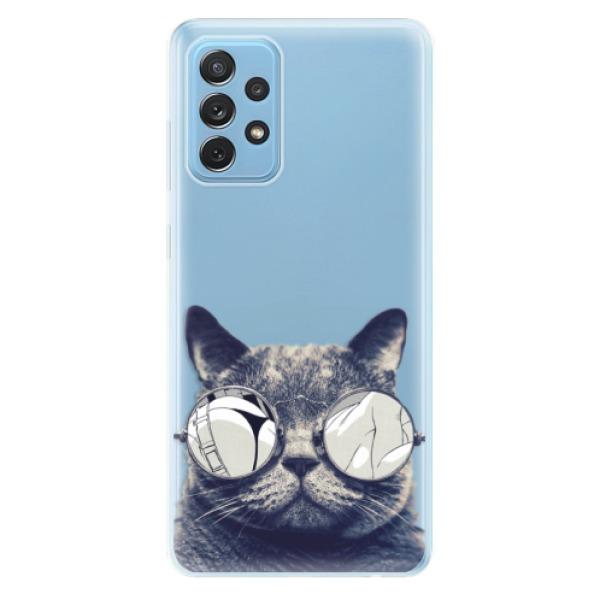 Odolné silikonové pouzdro iSaprio - Crazy Cat 01 - Samsung Galaxy A72