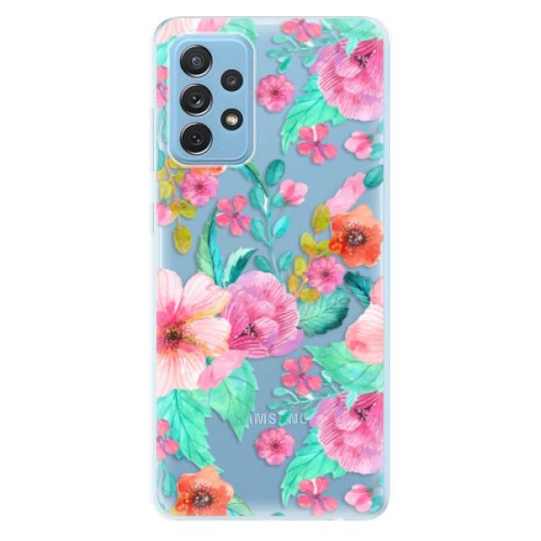 Odolné silikonové pouzdro iSaprio - Flower Pattern 01 - Samsung Galaxy A72