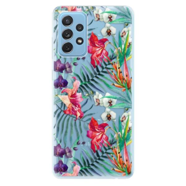 Odolné silikonové pouzdro iSaprio - Flower Pattern 03 - Samsung Galaxy A72