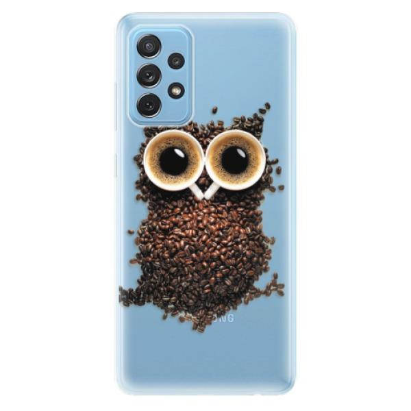 Odolné silikonové pouzdro iSaprio - Owl And Coffee - Samsung Galaxy A72