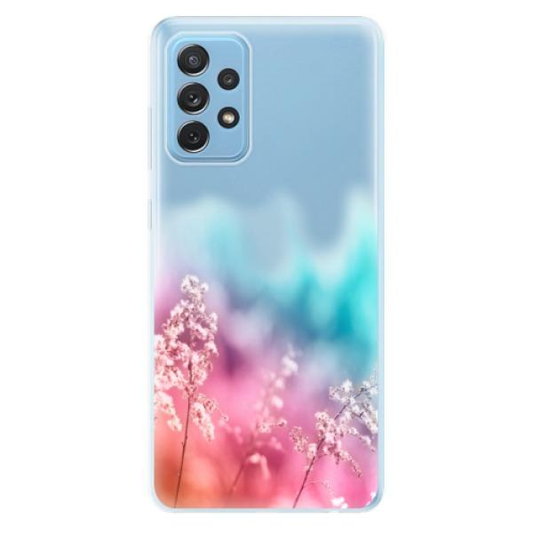 Odolné silikonové pouzdro iSaprio - Rainbow Grass - Samsung Galaxy A72