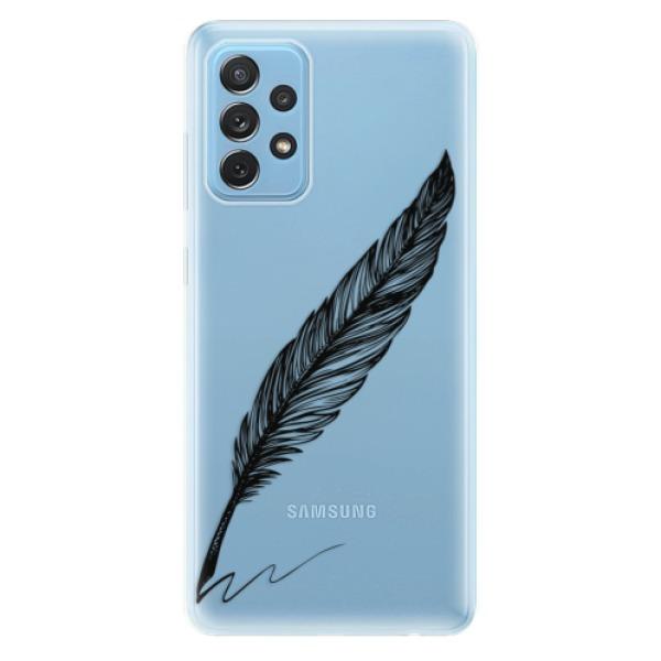Odolné silikonové pouzdro iSaprio - Writing By Feather - black - Samsung Galaxy A72